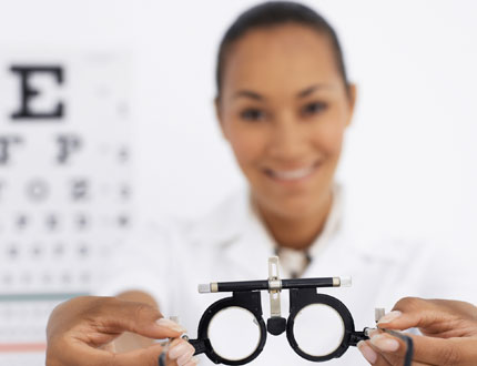 Photo Doctor With Vision Chart